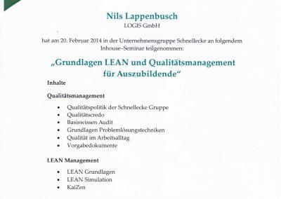 Qualitätsmanagement und LEAN-Management